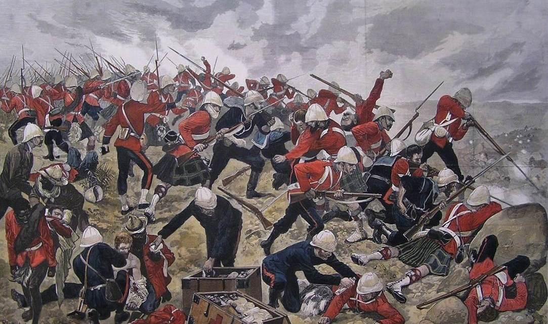 Bataille de Majuba Hill. Illustration de R. C. Woodville.