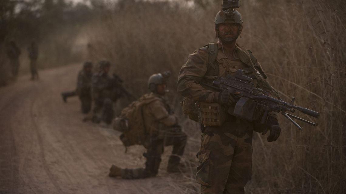Soldats français de la Force Sangaris le 29 janvier au nord-est de Bamingui. Crédit : EMA / Armée de Terre