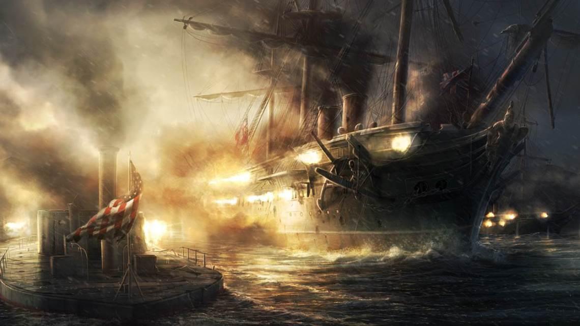 Monitor vs HMS Warrior