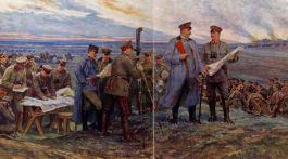 Hindenburg à Tannenberg 1914.