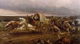 """""""La déroute de Cholet"""" de Jules GIRARDET (1856-1938)"""