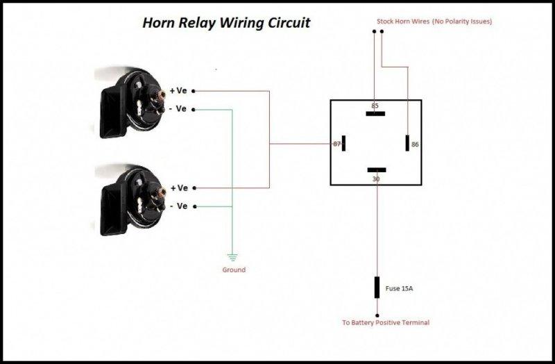 Horn Relay Schematic Wiring Diagram
