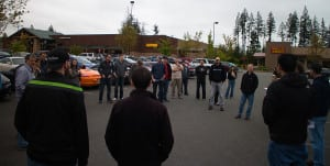 Pre-drive and pre-spit meeting for the Northwest Drivers group at the QFC on NE Novelty Hill Road.
