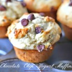 Chocolate Chip Yogurt Muffins {Bakery Style}