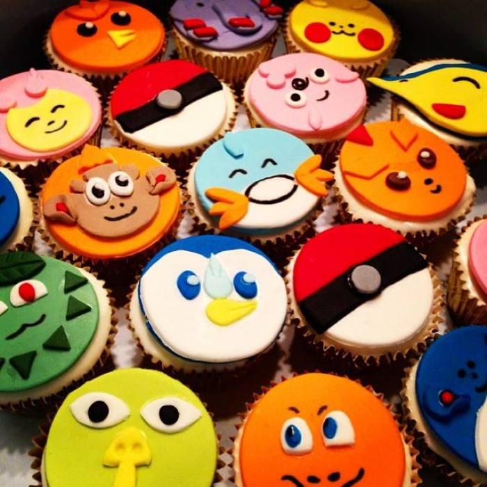 Pokemon Fondant Cupcakes