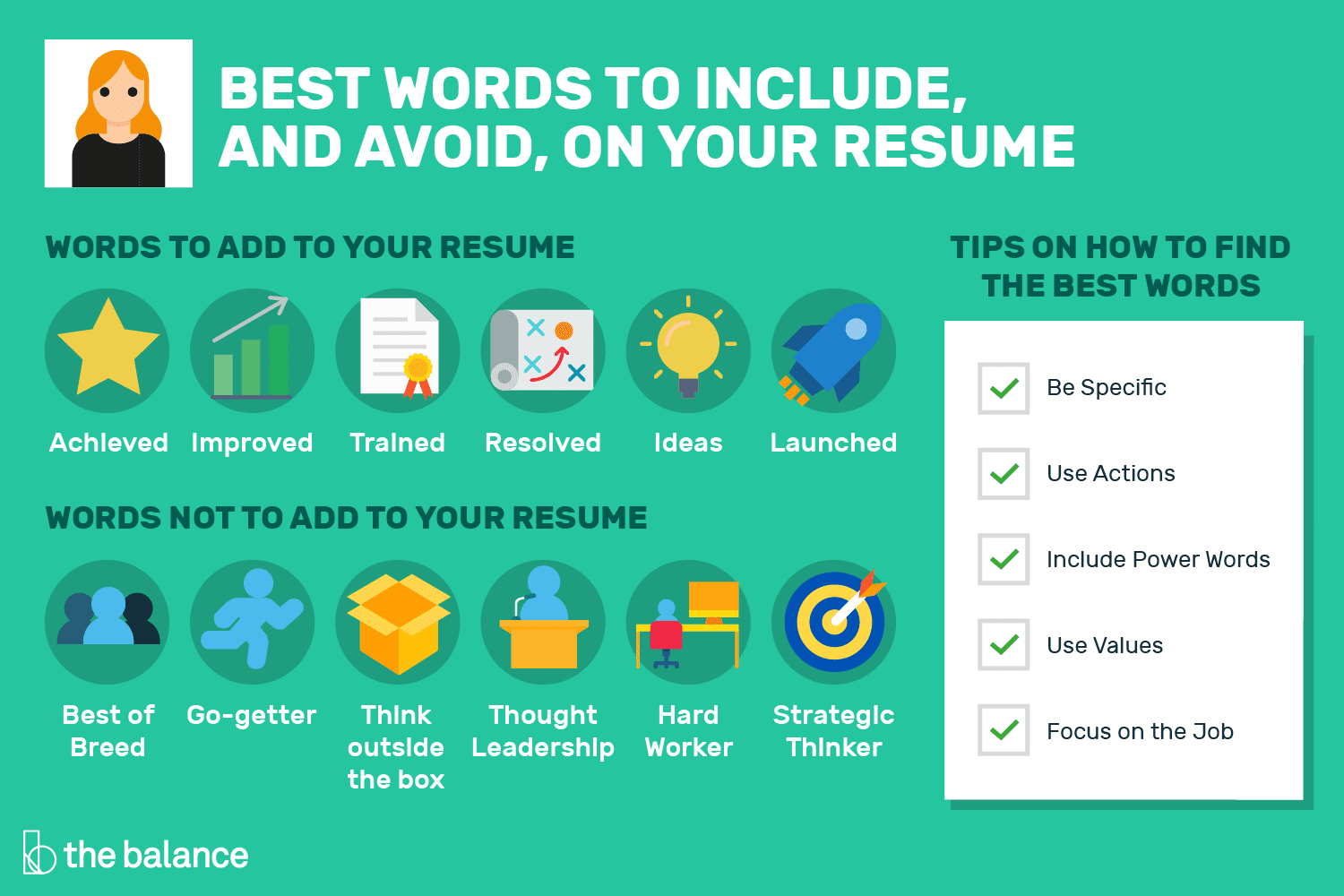 nice words to use in resume