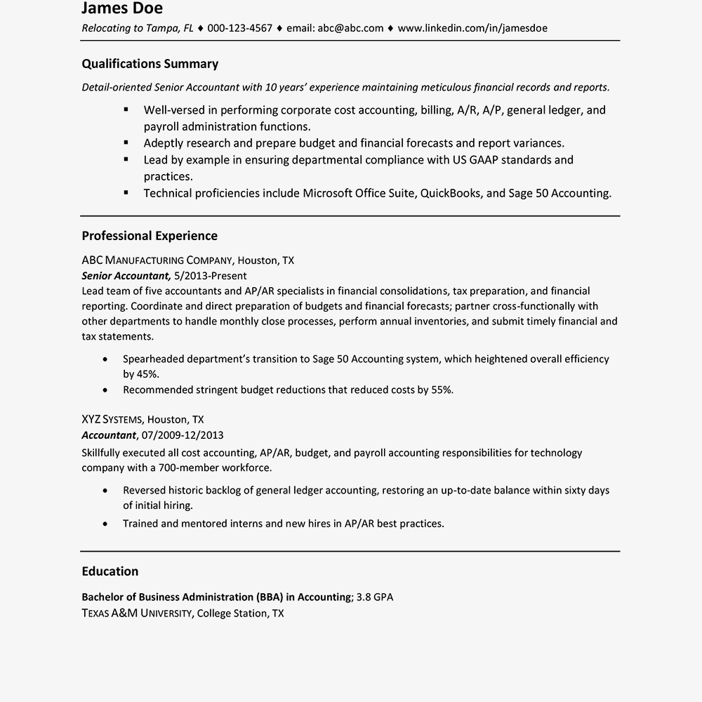 sample resume no address