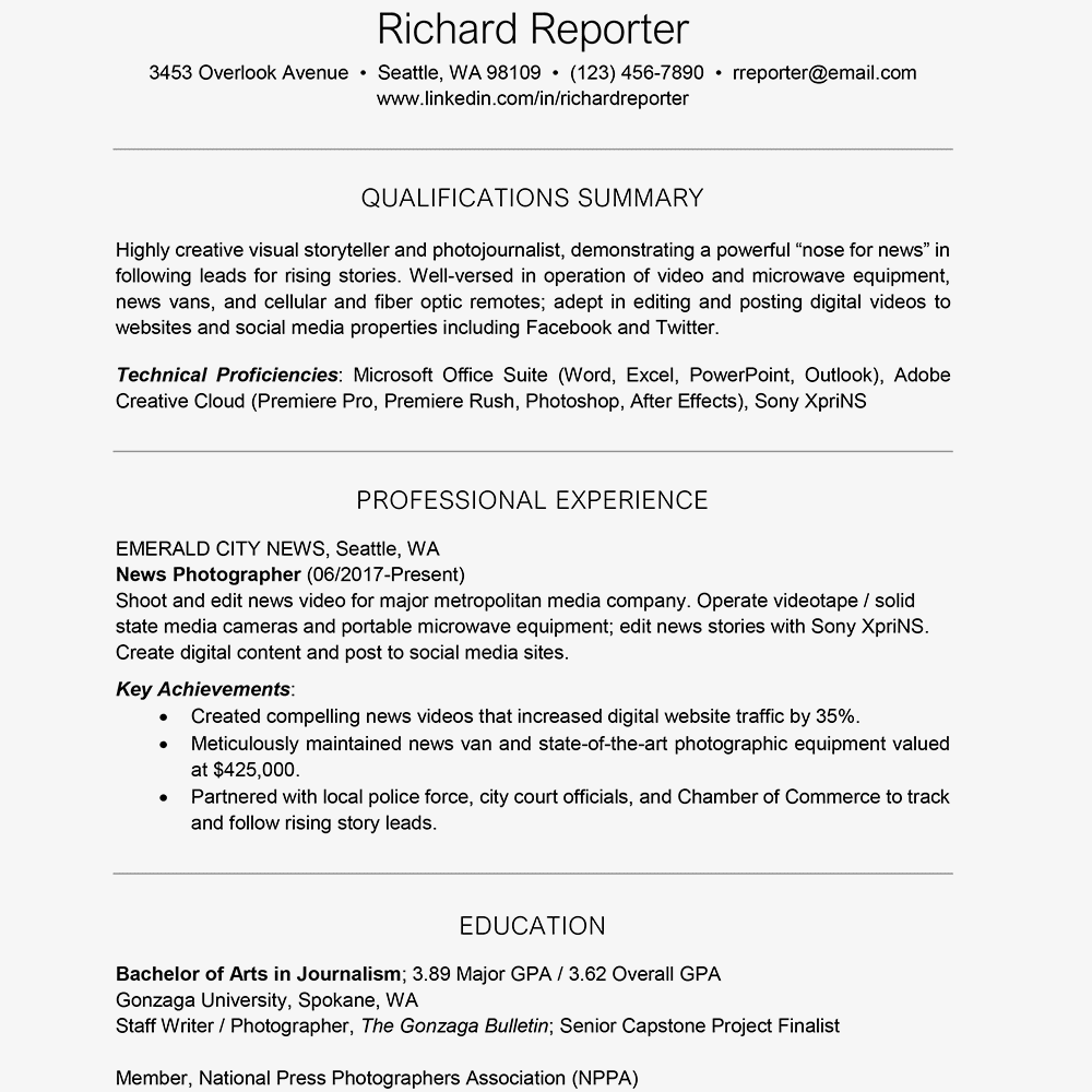 resume gpa format