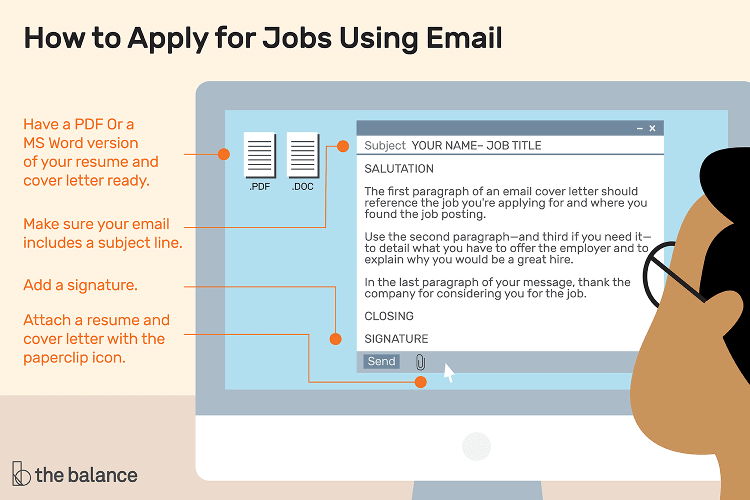 how to write an email when sending a resumes