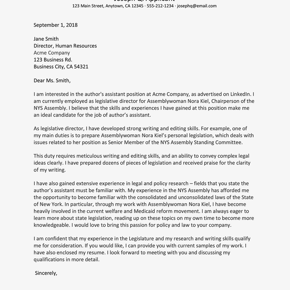 uf cover letter example