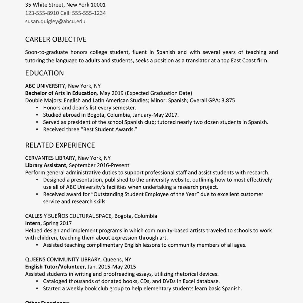 resume graduation dates