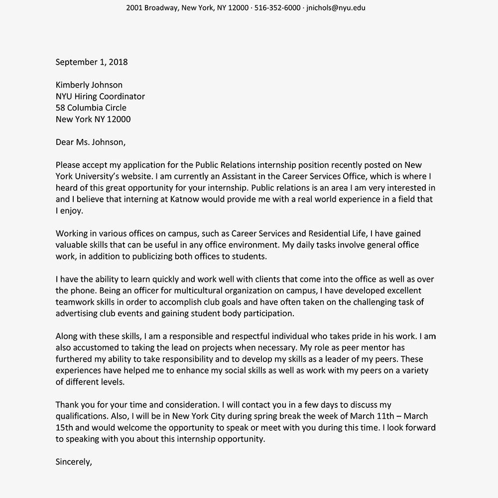 social work intern cover letter