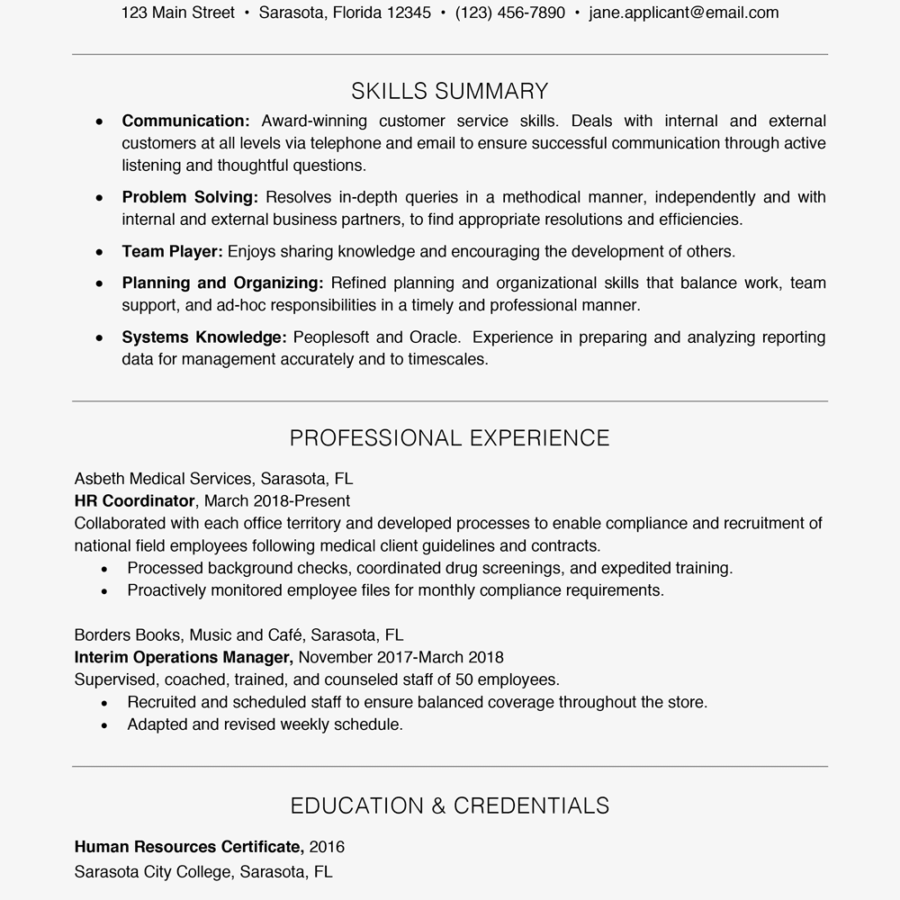 key technical skills for resume
