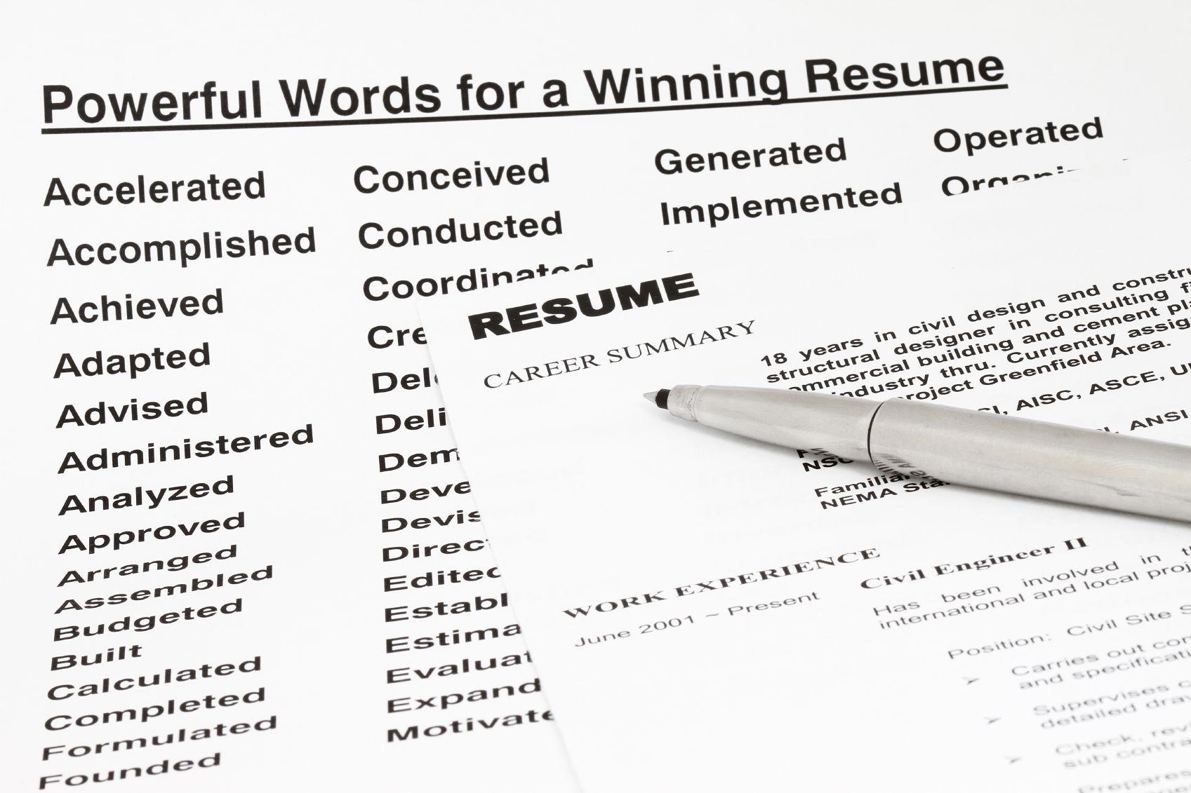 resume keywords for sales jobs