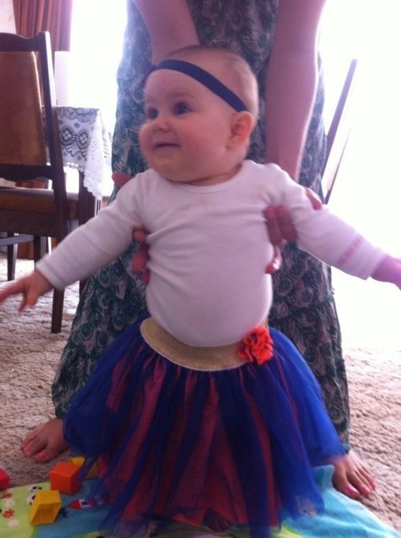 Amelia in a tutu
