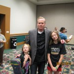 Dan Farr and our girls at Salt Lake ComicCon