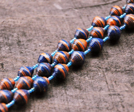 orange and blue beads