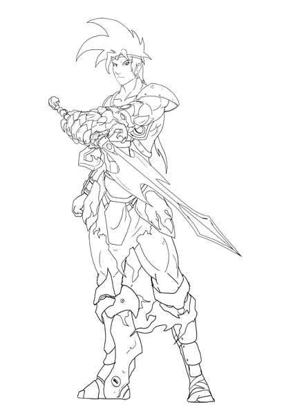 Gallery Update 09/01 Lineart for Xeus Standee at the Con