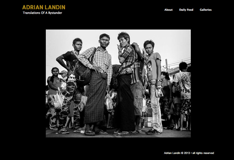 The home page of www.adrianlandin.com