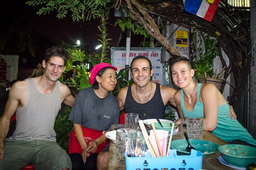 Our last dinner at the restaurant in the garage where she makes the best green curry in Chiang Mai.