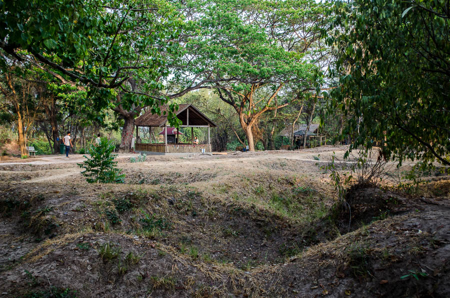 The killing fields outside of Phnom Penh where the Khmer Rouge slaughtered their victims.