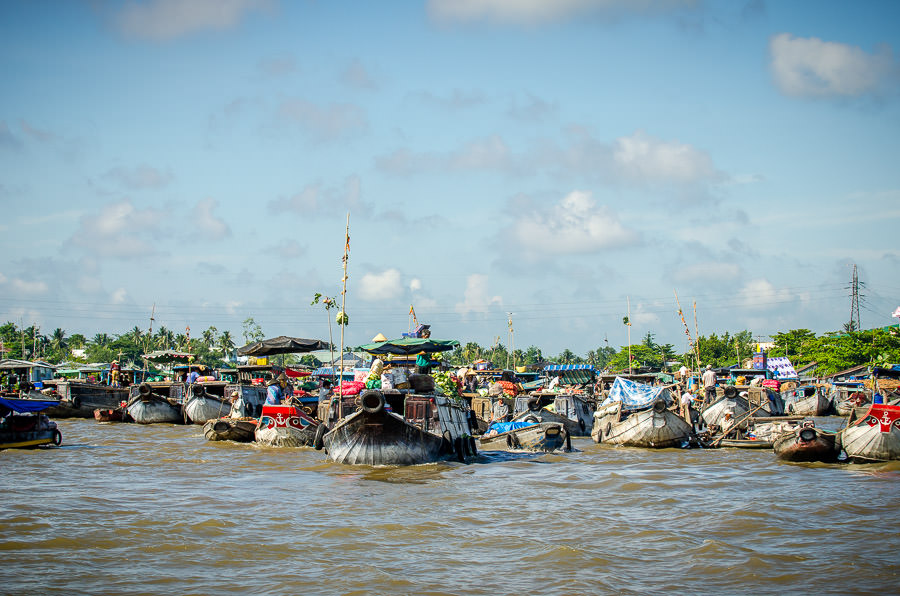 The floating Market of Can Tho.