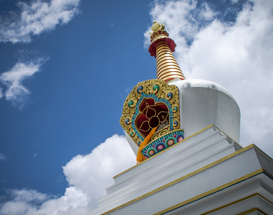 The Gompa at the top of the hill in Gharyu, Nepal