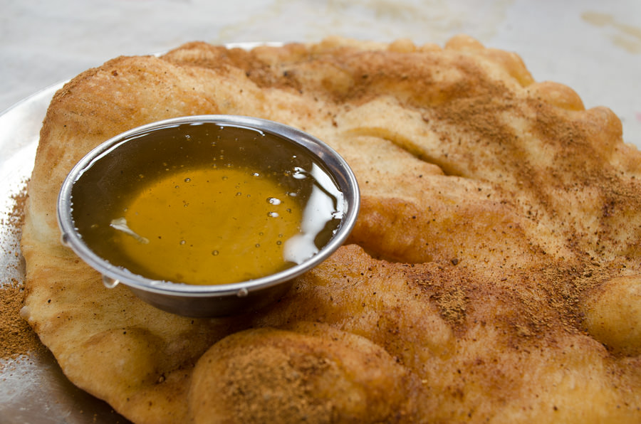 Tibetan bread and honey