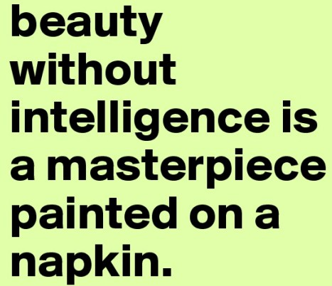 beauty without intelligence