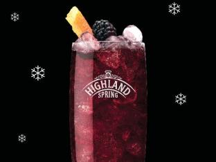 Highland Spring mocktail