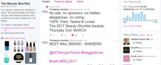 AWARDS round up twitter