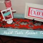 Felt Heart Table Runner {Tutorial}