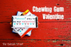 Chewing Gum Printable Valentine at The Benson Street