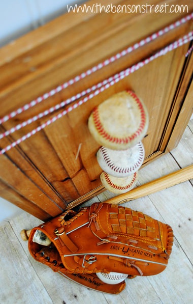 Old Baseball Decor at www.thebensonstreet.com