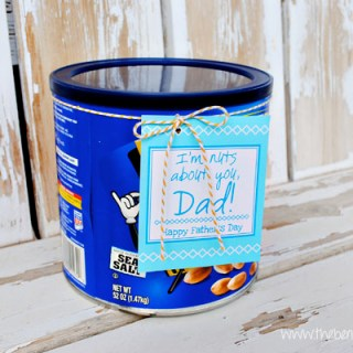 Printable Father's Day Peanuts Tag