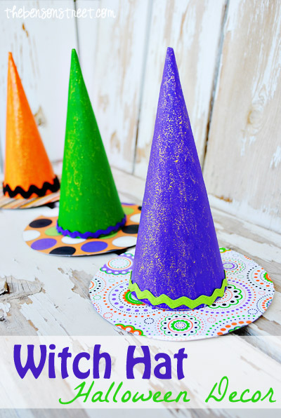 Witch Hat Halloween Decor at thebensonstreet.com