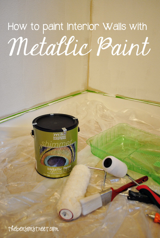 How to paint a metallic accent wall modernmasters the for How to paint interior walls