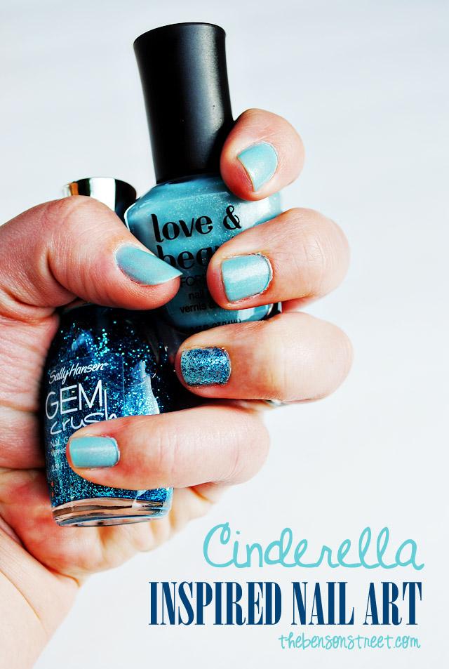 Cinderella Inspired Nail Design at thebensonstreet.com