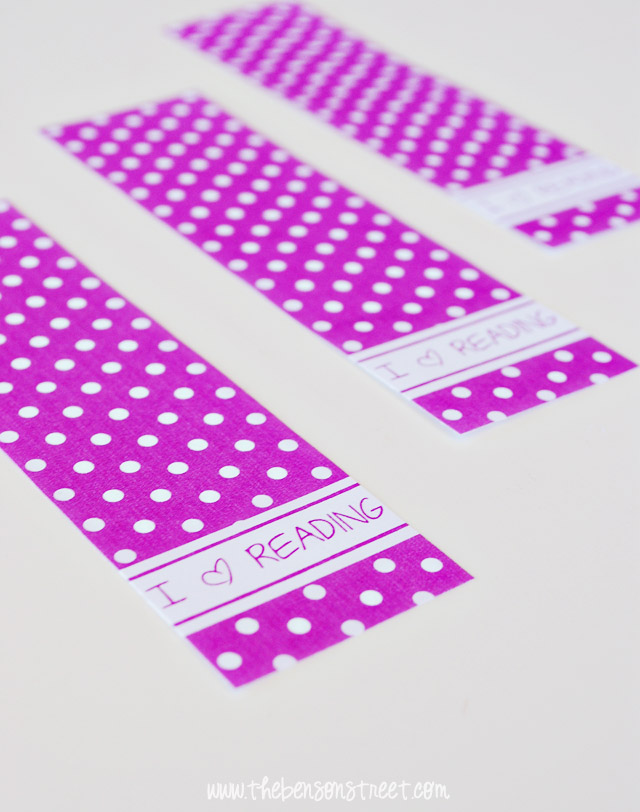 Polka Dot Orchid Bookmarks at thebensonstreet.com