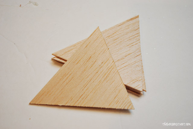 Simple Wooden Pentants at thebensonstreet.com