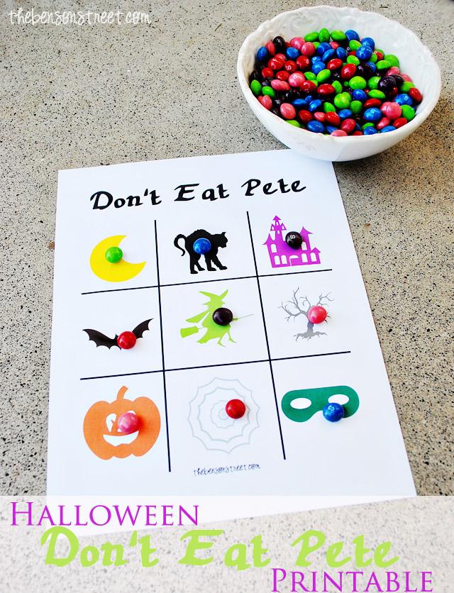 Halloween Don't Eat Pete Printable at thebensonstreet.com
