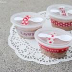 Valentine Fudge Cups Gift