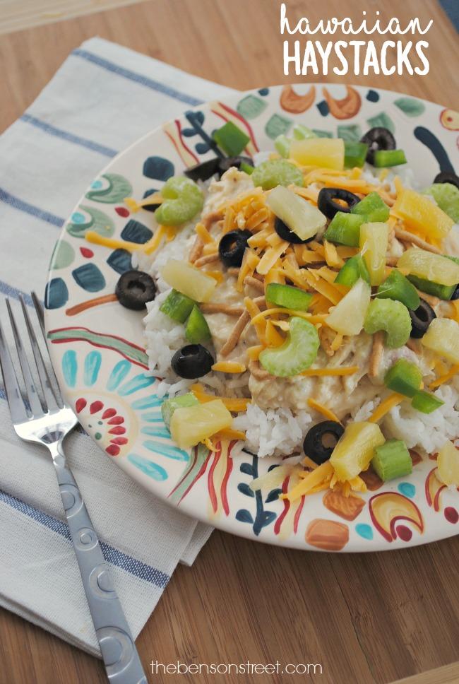 Slow Cooker Hawaiian Haystacks Recipe at thebensonstreet.com