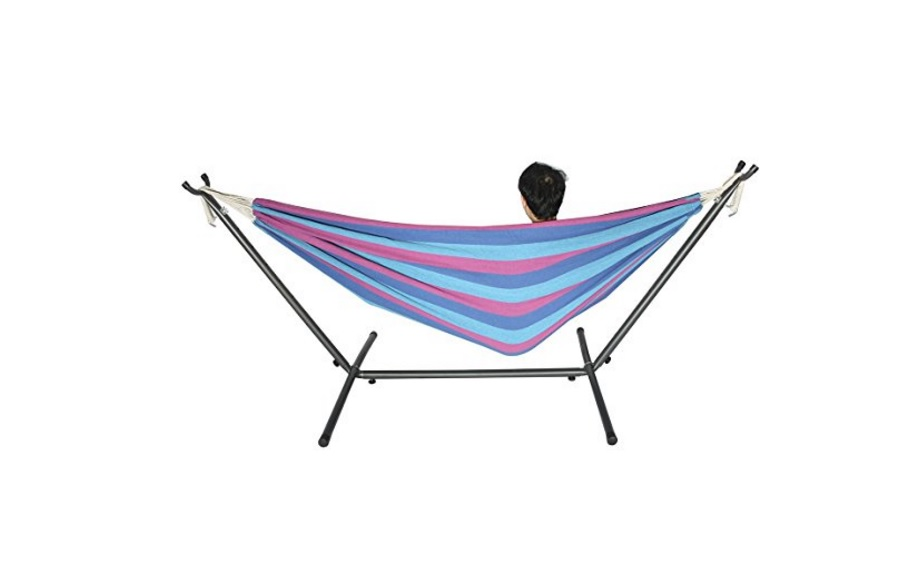 double hammock outdoor swing chair with steel stand for  35 89 at amazon double hammock outdoor swing chair with steel stand for  35 89 at      rh   thebestdealsclub
