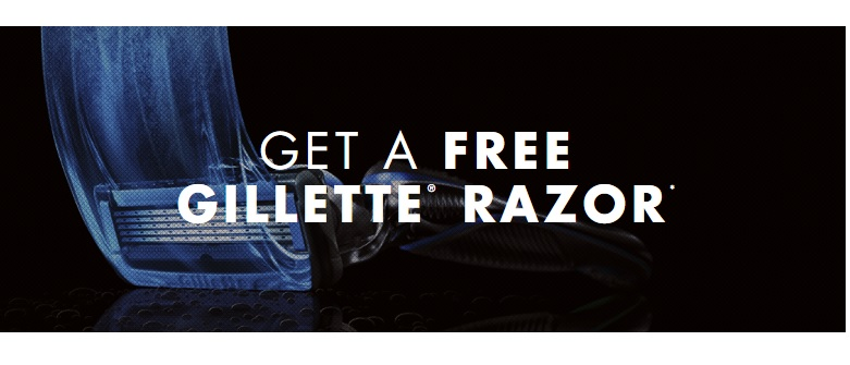 Free Gillette Razor from Gillette Welcome Back