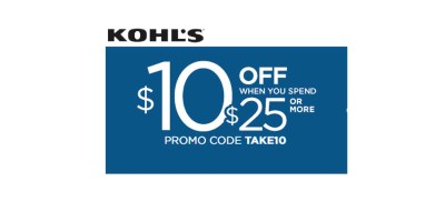 $10 off $25 with coupon TAKE10