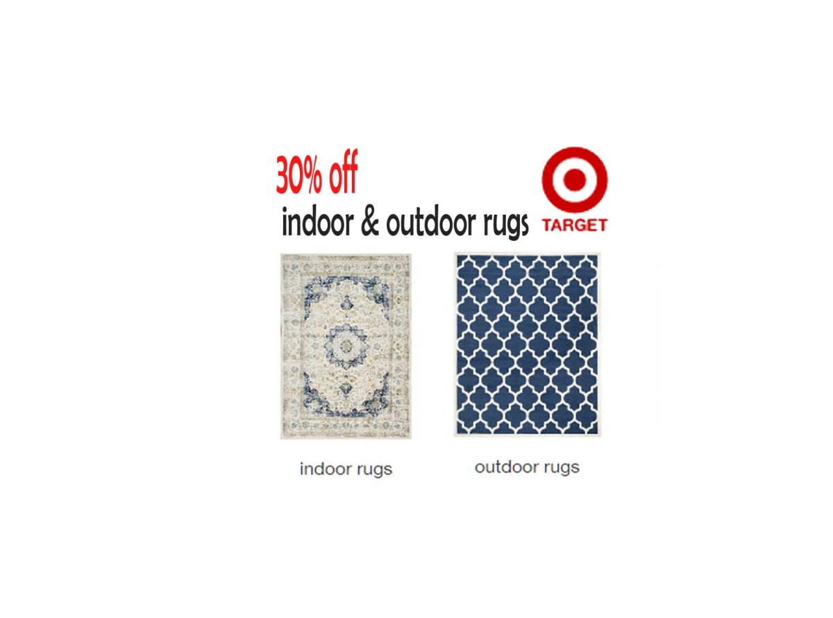 Save up to 30% off indoor & outdoor rugs at Target