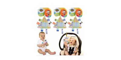 3pk Take Along Taggies Interactive Sensory Baby Travel Toys