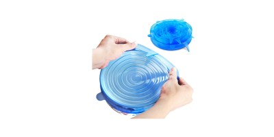 6 Pack of Various Sizes ORBLUE Silicone Stretch Lids
