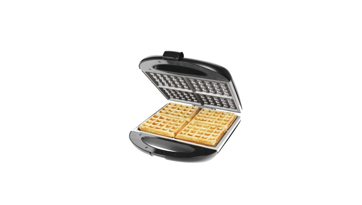 Chefman Square Flip Waffle Maker Black for $19.99 at Best Buy